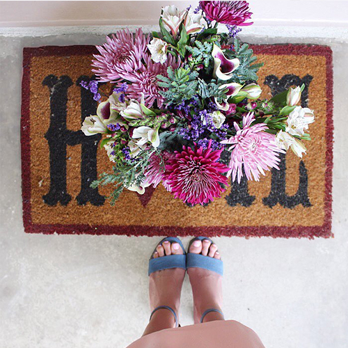 Artisan Bouquet Delivered On Womans Doorstep